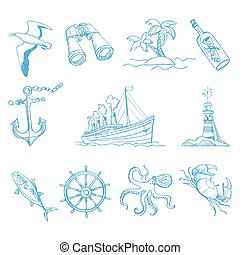 Seamless background on boating theme for your design