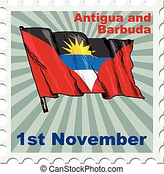 Antigua and Barbuda - post stamp of national day of Antigua...