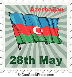 national day of Azerbaijan - post stamp of national day of...