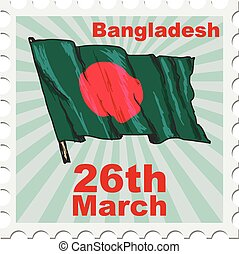 national day of Bangladesh - post stamp of national day of...
