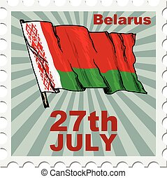 national day of Belarus - post stamp of national day of...