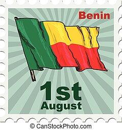 national day of Benin - post stamp of national day of Benin