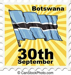 national day of Botswana - post stamp of national day of...