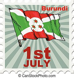 national day of Burundi - post stamp of national day of...
