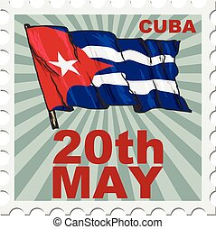 national day of Cuba - post stamp of national day of Cuba
