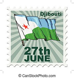 national day of Djibouti - post stamp of national day of...
