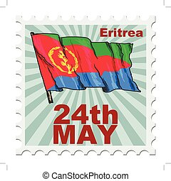 national day of Eritrea - post stamp of national day of...