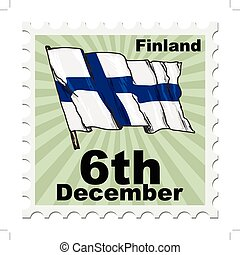 national day of Finland - post stamp of national day of...