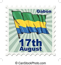 national day of Gabon - post stamp of national day of Gabon