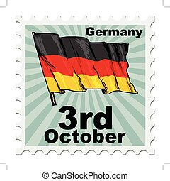national day of Germany - post stamp of national day of...