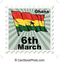 national day of Ghana - post stamp of national day of Ghana