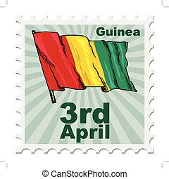 national day of Guinea - post stamp of national day of...