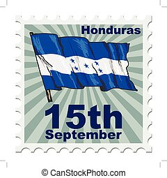 national day of Honduras - post stamp of national day of...