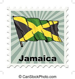 national day of Jamaica - post stamp of national day of...
