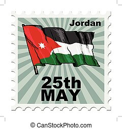 national day of Jordan - post stamp of national day of...
