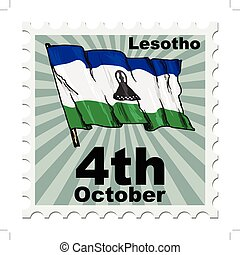 national day of Lesotho - post stamp of national day of...