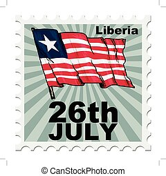 national day of Liberia - post stamp of national day of...