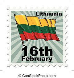 national day of Lithuania - post stamp of national day of...