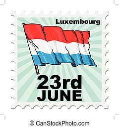 national day of Luxembourg - post stamp of national day of...