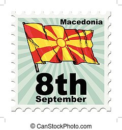 national day of Macedonia - post stamp of national day of...