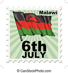 national day of Malawi - post stamp of national day of...