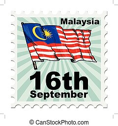 national day of Malaysia - post stamp of national day of...