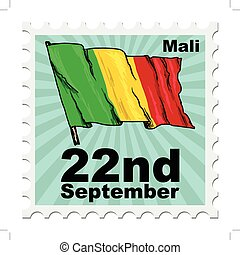 national day of Mali - post stamp of national day of Mali