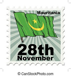 national day of Mauritania - post stamp of national day of...