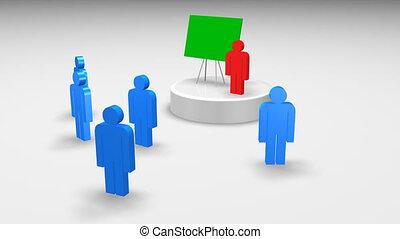 3d men at a presentation