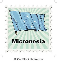 national day of Micronesia - post stamp of national day of...