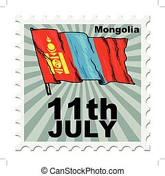 national day of Mongolia - post stamp of national day of...