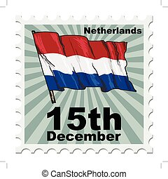 national day of Netherlands - post stamp of national day of...