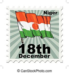 national day of Niger - post stamp of national day of Niger