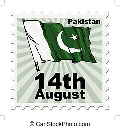 national day of Pakistan - post stamp of national day of...