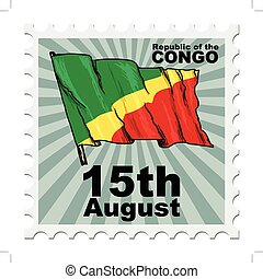 national day of Congo - post stamp of national day of Congo