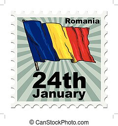 national day of Romania - post stamp of national day of...