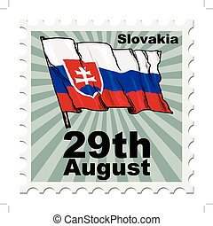national day of Slovakia - post stamp of national day of...