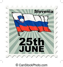 national day of Slovenia - post stamp of national day of...