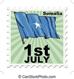 national day of Somalia - post stamp of national day of...