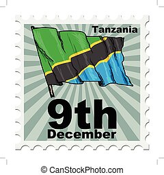 national day of Tanzania - post stamp of national day of...