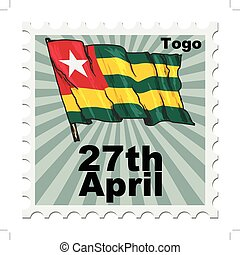national day of Togo - post stamp of national day of Togo
