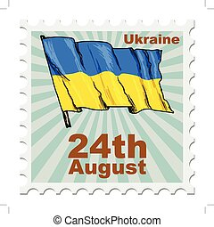 national day of Ukraine - post stamp of national day of...