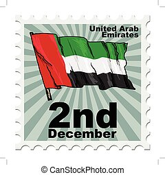 national day of - post stamp of national day of