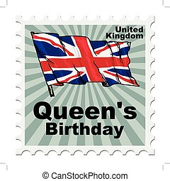 national day of UK - post stamp of national day of UK
