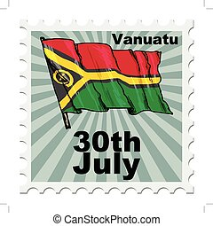 national day of Vanuatu - post stamp of national day of...