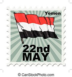 national day of Yemen - post stamp of national day of Yemen
