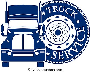 vector illustration design hevy truck automobile service for...