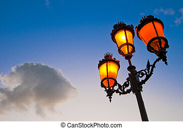 Streetlamp - One of the many streetlamps located at es Born...