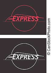 vector silhouette modern express train on gray