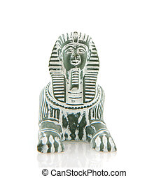 Egyptian sfinx - Egyptian sphinx from stone isolated over...